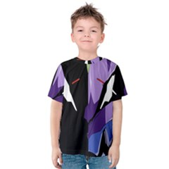 Monster Face Drawing Paint Kids  Cotton Tee