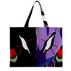 Monster Face Drawing Paint Zipper Mini Tote Bag