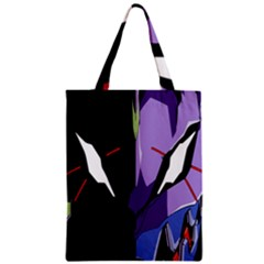 Monster Face Drawing Paint Zipper Classic Tote Bag