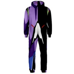 Monster Face Drawing Paint Hooded Jumpsuit (Men)