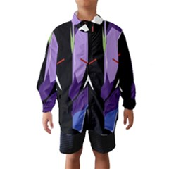 Monster Face Drawing Paint Wind Breaker (Kids)