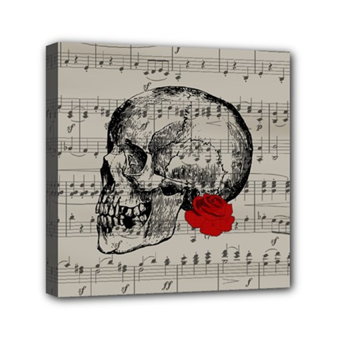 Skull and rose  Mini Canvas 6  x 6