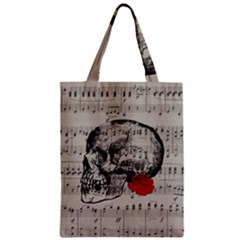 Skull and rose  Zipper Classic Tote Bag