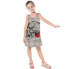 Skull and rose  Kids  Sleeveless Dress