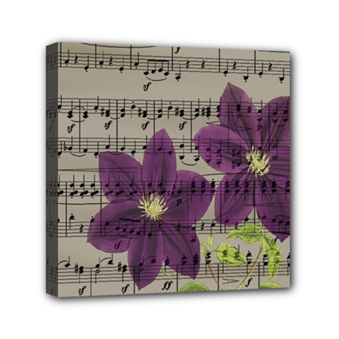 Vintage purple flowers Mini Canvas 6  x 6