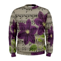 Vintage purple flowers Men s Sweatshirt