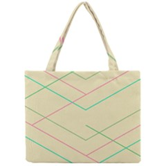 Abstract Yellow Geometric Line Pattern Mini Tote Bag