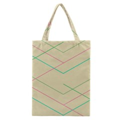 Abstract Yellow Geometric Line Pattern Classic Tote Bag