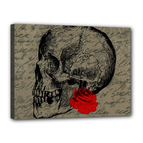 Skull and rose  Canvas 16  x 12