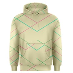 Abstract Yellow Geometric Line Pattern Men s Pullover Hoodie
