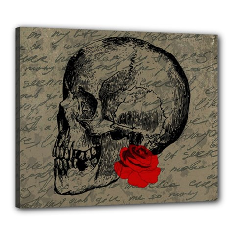 Skull and rose  Canvas 24  x 20