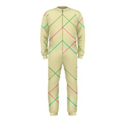 Abstract Yellow Geometric Line Pattern OnePiece Jumpsuit (Kids)