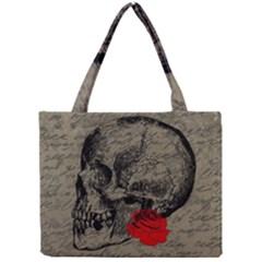 Skull and rose  Mini Tote Bag