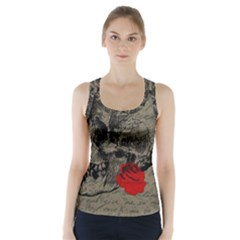 Skull and rose  Racer Back Sports Top