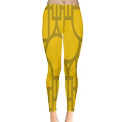 The Michigan Pattern Yellow Leggings
