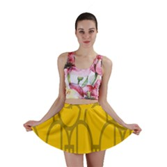 The Michigan Pattern Yellow Mini Skirt