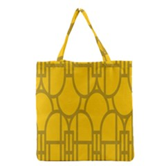 The Michigan Pattern Yellow Grocery Tote Bag