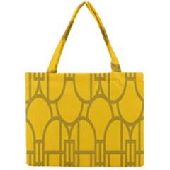 The Michigan Pattern Yellow Mini Tote Bag