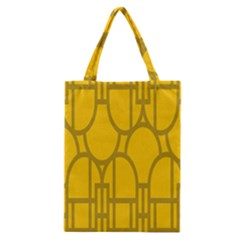 The Michigan Pattern Yellow Classic Tote Bag