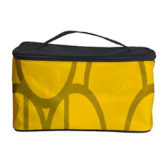 The Michigan Pattern Yellow Cosmetic Storage Case