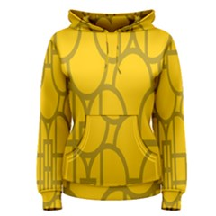 The Michigan Pattern Yellow Women s Pullover Hoodie