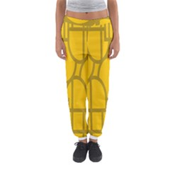The Michigan Pattern Yellow Women s Jogger Sweatpants