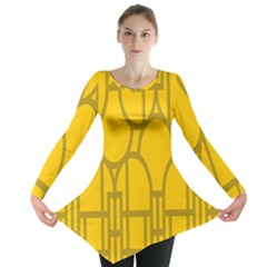 The Michigan Pattern Yellow Long Sleeve Tunic