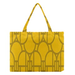 The Michigan Pattern Yellow Medium Tote Bag