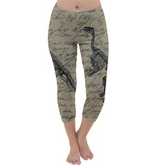 Dinosaur skeleton Capri Winter Leggings