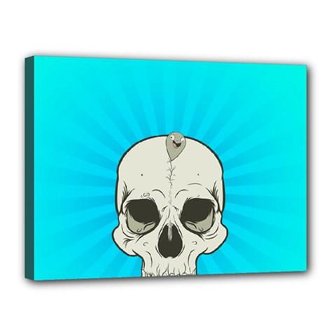 Skull Ball Line Schedule Canvas 16  x 12