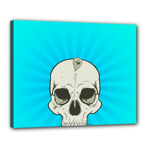 Skull Ball Line Schedule Canvas 20  X 16