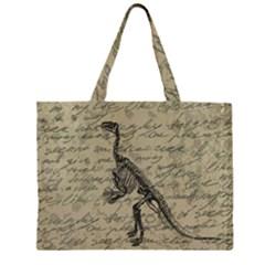 Dinosaur skeleton Large Tote Bag