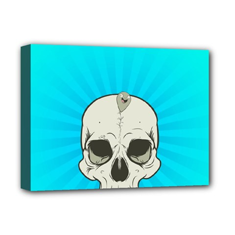 Skull Ball Line Schedule Deluxe Canvas 16  X 12