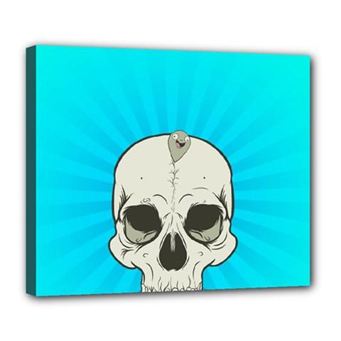 Skull Ball Line Schedule Deluxe Canvas 24  x 20