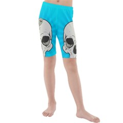 Skull Ball Line Schedule Kids  Mid Length Swim Shorts