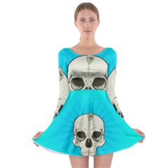 Skull Ball Line Schedule Long Sleeve Skater Dress