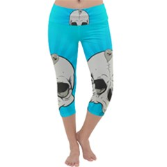 Skull Ball Line Schedule Capri Yoga Leggings