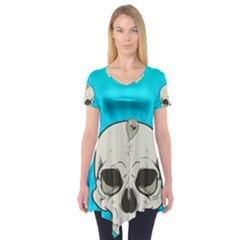 Skull Ball Line Schedule Short Sleeve Tunic