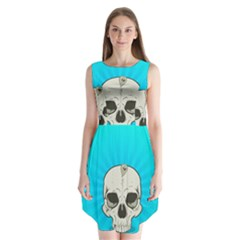 Skull Ball Line Schedule Sleeveless Chiffon Dress
