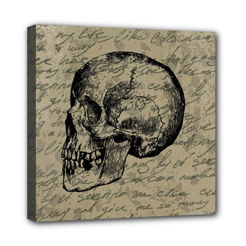 Skull Mini Canvas 8  x 8