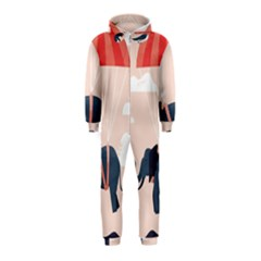 Digital Slon Parashyut Vektor Hooded Jumpsuit (Kids)