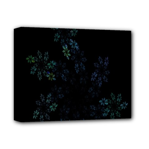 Fractal Pattern Black Background Deluxe Canvas 14  x 11