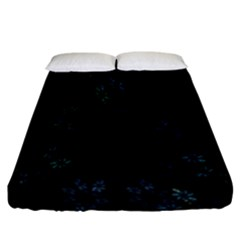 Fractal Pattern Black Background Fitted Sheet (california King Size)