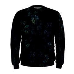 Fractal Pattern Black Background Men s Sweatshirt