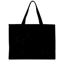 Fractal Pattern Black Background Zipper Mini Tote Bag