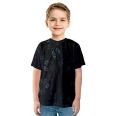 Fractal Pattern Black Background Kids  Sport Mesh Tee
