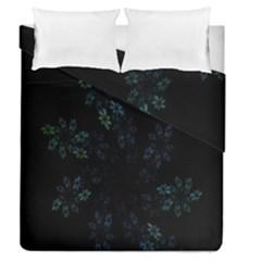 Fractal Pattern Black Background Duvet Cover Double Side (queen Size)