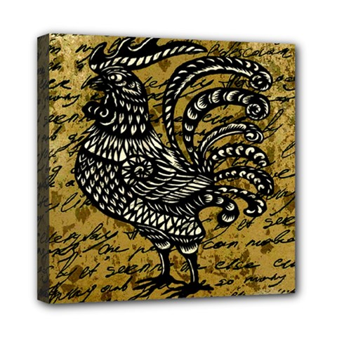 Vintage rooster  Mini Canvas 8  x 8