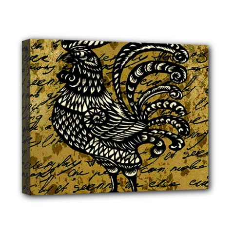Vintage rooster  Canvas 10  x 8