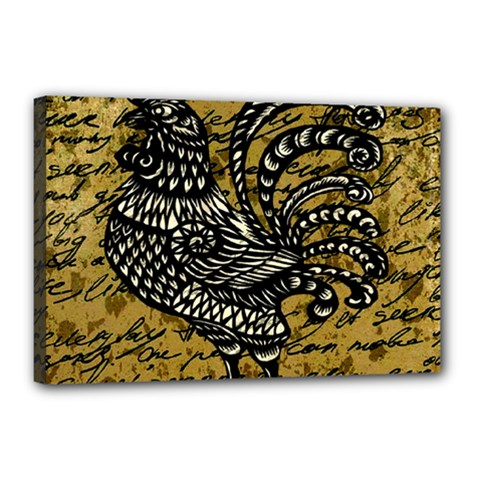 Vintage rooster  Canvas 18  x 12
